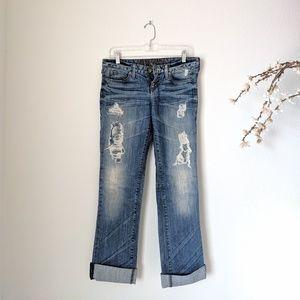 GUESS Premium Denim Jeans Distressed Starlet Crop